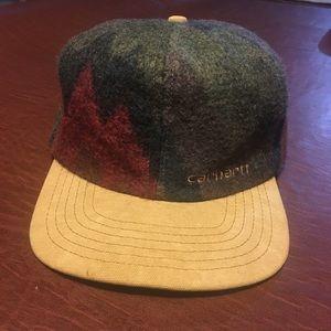 Vtg Carhartt Wool Blanket Style Hat OS